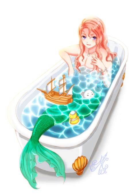 Mermaid Bathtub by Mermaid In The Bath By Nanahana773 On Deviantart