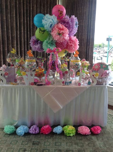 Handmade Centerpieces For Baby Shower - whimsical owl themed baby shower station