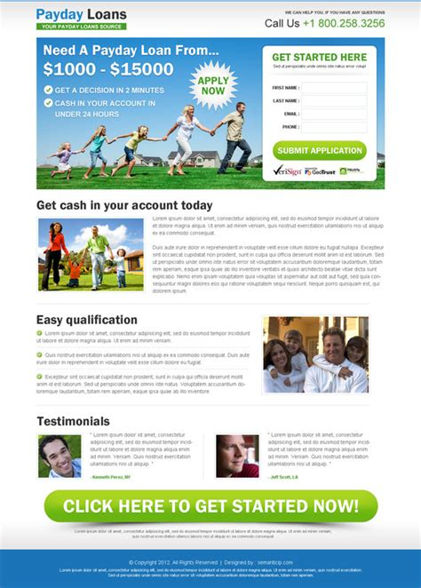 mortgage landing page templates landing page design templates exle for inspiration