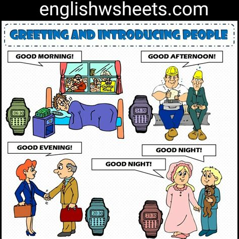 Greeting Poster greeting and introducing esl printable classroom