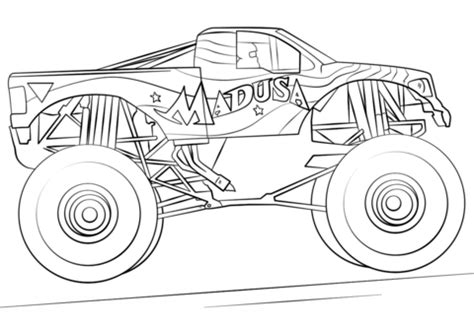 Galerry colouring page monster truck