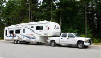 Wheels Truck With Trailer Fifth Wheel Trailers Are The Favorite For Time Rving
