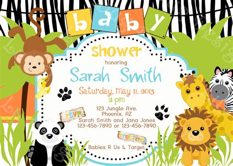 Jungle Themed Baby Shower Invitations by Safari Themed Baby Shower For Limited Budget Free