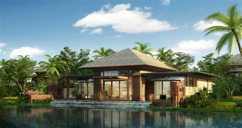 a luxurious tropical resort hotel architecture design