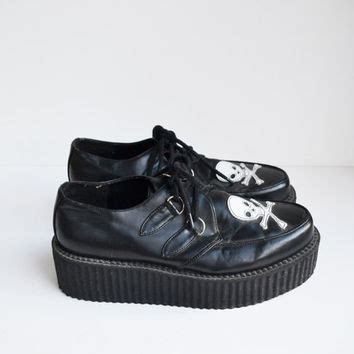 90s kid shoes vintage 90s creeper shoes black with from founditinatlanta on