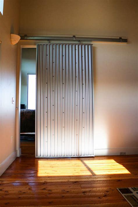 check   interior sliding door   corrugated