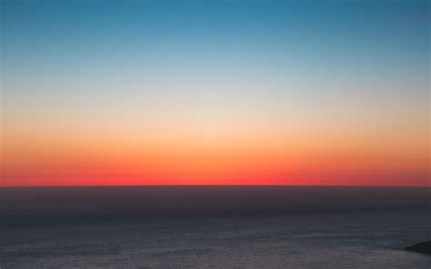 wallpaper  horizon sea sunset sky