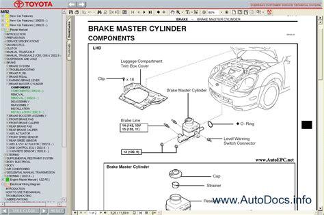 car repair manuals online pdf 2005 toyota mr2 interior lighting toyota mr2 1999 2005 service manual repair manual order download