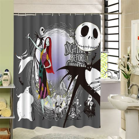 nightmare before christmas curtains nightmare before christmas bathroom decor