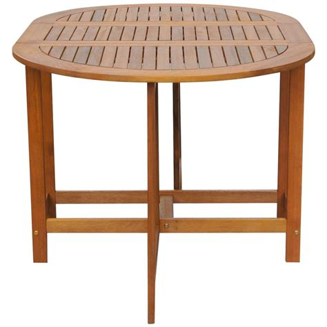Drop Leaf Outdoor Table Vidaxl Outdoor Oval Drop Leaf Table Acacia Wood Vidaxl Co Uk