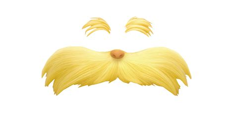 printable lorax eyes the lorax eyebrow and moustache transparent png stickpng