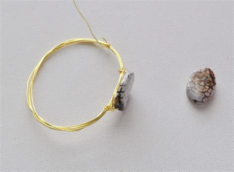 add a bead bracelet wire wrapped bangle bracelets made in a day