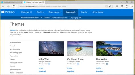 more themes for windows 10 download new landscape themes in windows 10 ask dave taylor