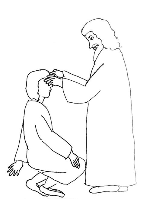Coloring Page Of Jesus by Jesus Heals Blind Coloring Page Christian
