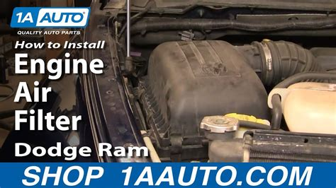 install repair replace change engine air filter dodge ram   aautocom youtube
