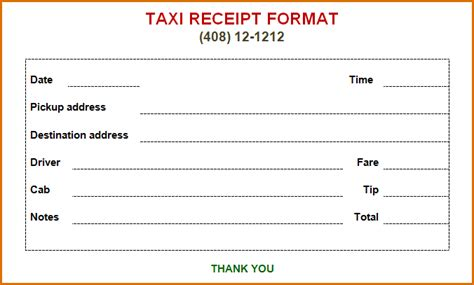 Taxi Receipt Template by Receipts Template Studio Design Gallery Best Design