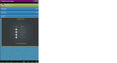 bluestacks keyboard mapping not showing applications tilt left and right is not working in