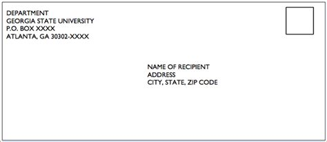Business Letter Format Envelope Address Format In Usa Business Templated Business Templated