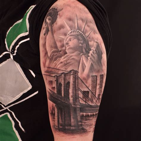 new york sleeve tattoo google search tattos