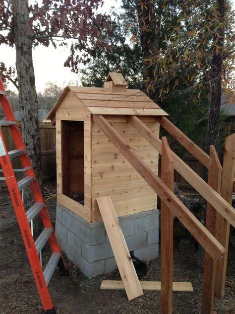 Goods Home Design How To Build A Smokehouse Cedar Smokehouse Construction 13 Home Design Garden