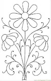 flower coloring pattern free coloring pages of flower patterns