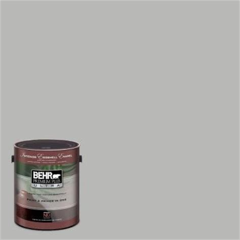 1 gal ul260 18 classic silver interior eggshell enamel paint behr paint behr and primer
