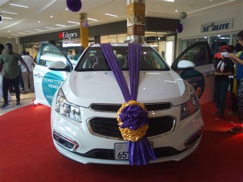 jhs student wins chevrolet cruise saloon car in west