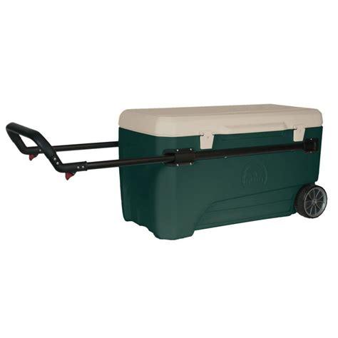 igloo sportsman 70 cooler igloo glide sportsman 110 qt 2 wheeled cooler 00045673