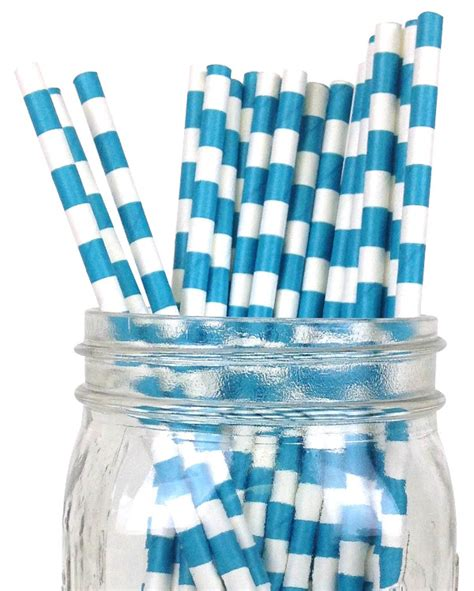 How To Make A Rugby Out Of Paper - rugby stripe paper straws 25pcs teal
