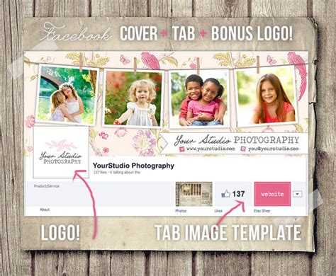 cover photo collage template photography cover photo template tabs and logo
