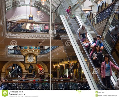 people christmas shopping in queen victoria building