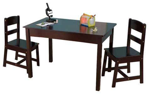 espresso childrens table and chairs rectangle table and 2 chair set espresso by kidkraft