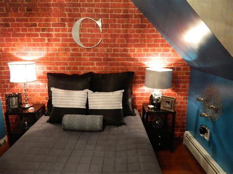 brick wallpaper bedroom design custom brick wallpaper loft apartment bedroom