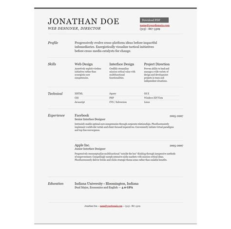 Resume Templates For Creative Professionals 28 Free Cv Resume Templates Html Psd Indesign Web Graphic Design Bashooka