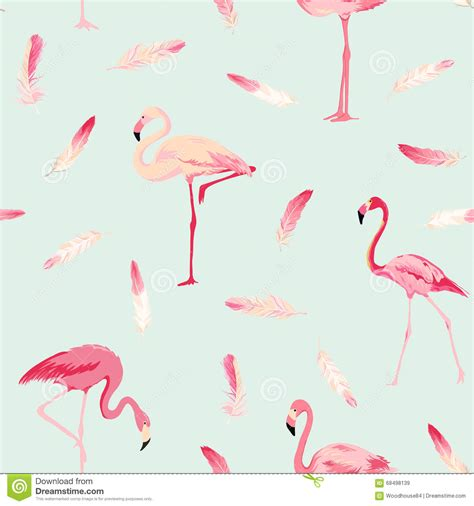 Flamingo Bird Retro Backgroundz flamingo bird background retro seamless pattern stock