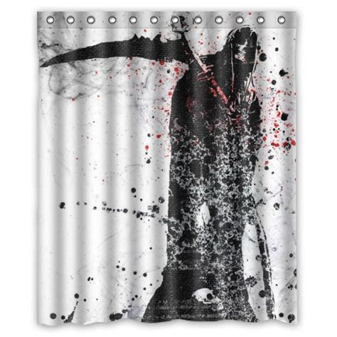 scary shower curtain horrific shower curtains for horror fans horror home decor