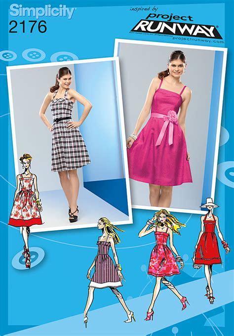 pattern runway simplicity 2176 misses miss petite dresses project