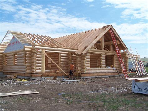 Cabin Roof Construction by Image Gallery Log Home Roof Construction