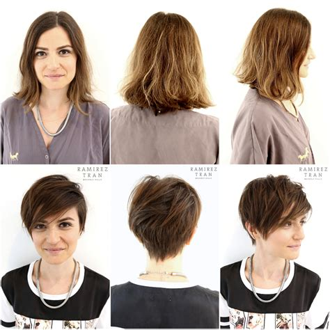 how to style hair when growing into bob chic modern pixie done the salon in miami ramirez