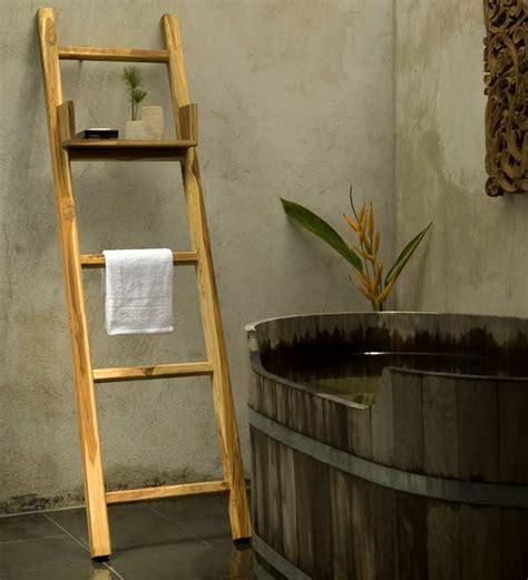 Kleines Holzregal Bad by Handtuchleiter Aus Holz F 252 R Ihr Badezimmer