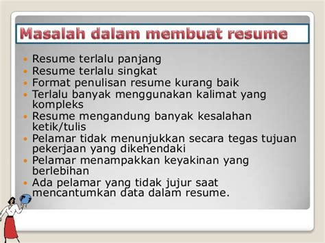kombis penulisan resume