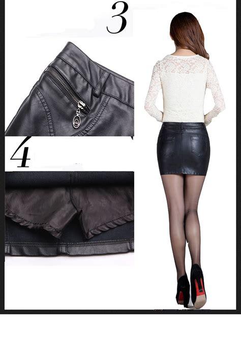 Import Leather Asimetris Black Pencil Skirt Rok Mini Hitam Kulit fashion mini skirt winter leather pencil skirt black pu skirts ebay