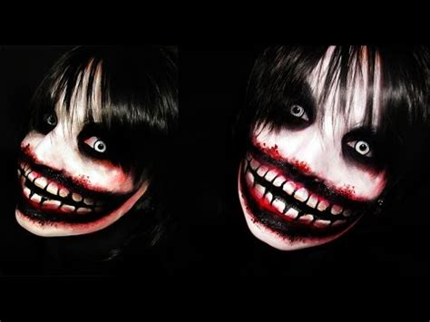 jeff the killer makeup tutorial jeff the killer creepypasta makeup tutorial youtube