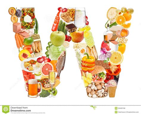 what is food made of letter w made of food stock photo image of health