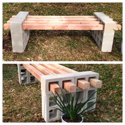 simple diy bench 20 awesome diy cinder block projects for your homestead