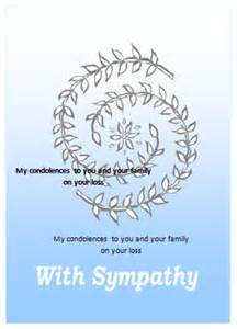 sympathy card template word free thank you card template