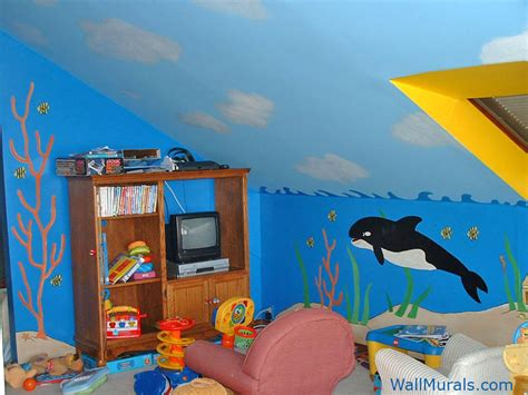 themed wall murals wall murals themed murals undersea animals