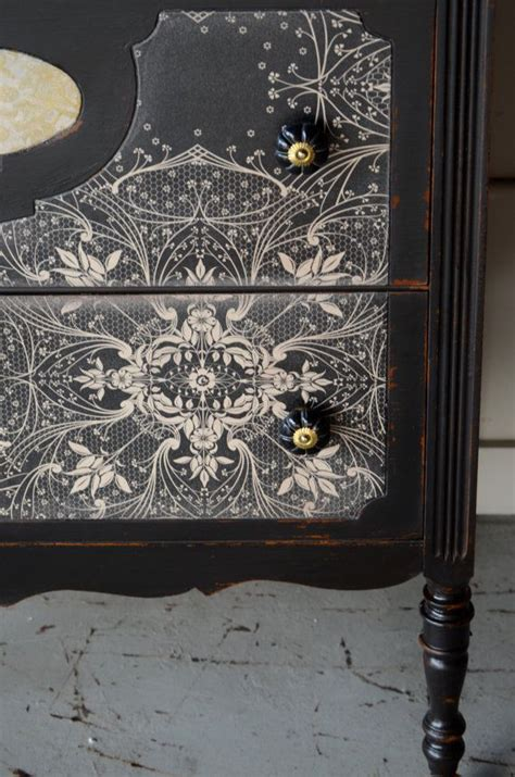 Decoupage Furniture With Wallpaper - wallpaper onto dresser front wallpaper decoupage