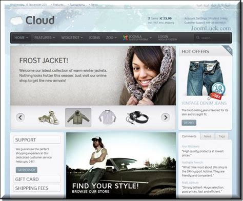 template joomla yoo cloud yoo cloud qs для joomla v 2 5 v 1 5