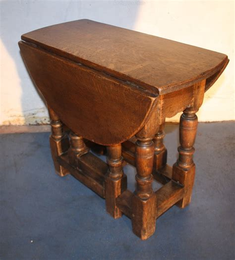 Antique Drop Leaf Table Oak Small Jacobean 1920s Drop Leaf Coffee Table Antiques Atlas